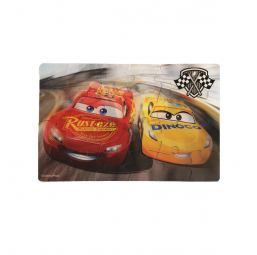 Spin Master A1701678 Boite carton 2 puzzles lenticulaires Cars 3