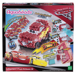 A1703931 Aquabeads coffret cars 3 flash Mc Queen 3D