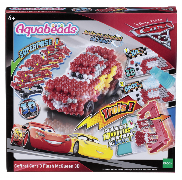 Aquabeads A1703931 Aquabeads coffret cars 3 flash Mc Queen 3D