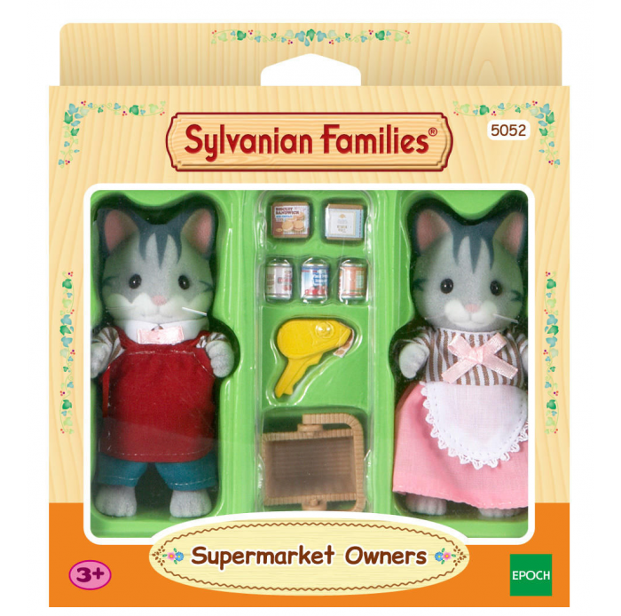 Chats gris commercants Sylvanian -  -Figurines, environnements