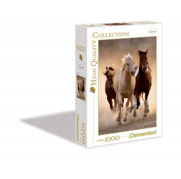 Puzzle 1000 Pièces - Running Horses -  -Puzzles