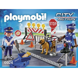 Figurines, environnements PLAYMOBIL Barrage de police