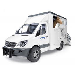Bruder A0901008 Camion de Transport Animal Mercedes-Benz avec un cheval