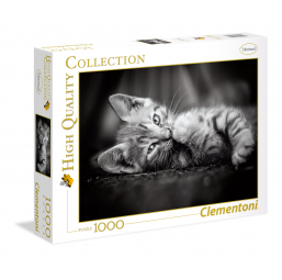 Puzzle 1000 pieces chat kitty -  -Puzzles