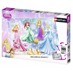 Ravensburger A1804416 puzzle 100 pieces princesses etincelles