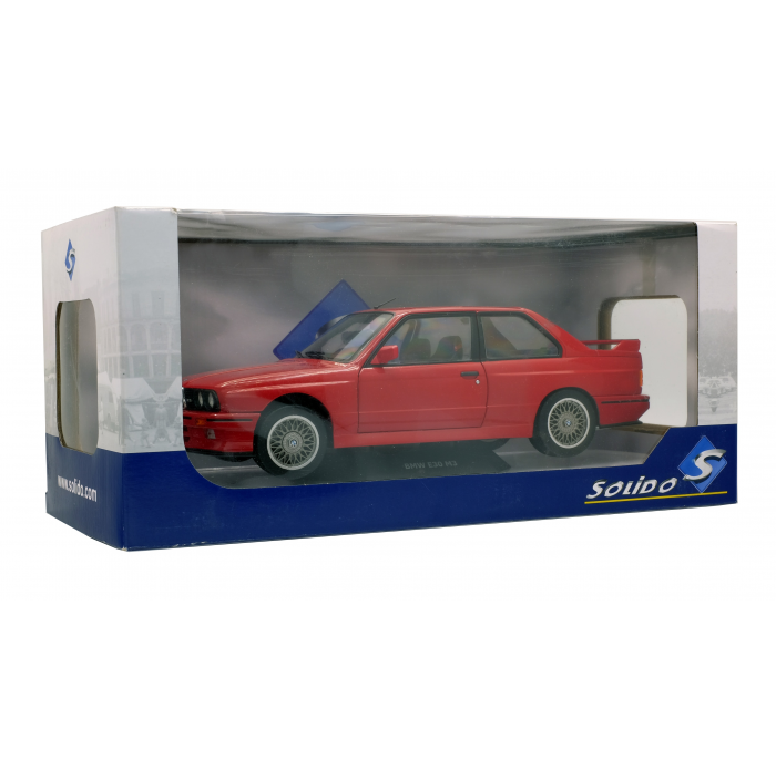 Circuits, véhicules  BMW e30 m3 rouge 1990 1/18