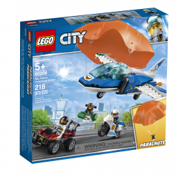 Arrestation en parachute City - Lego -Jeux de construction