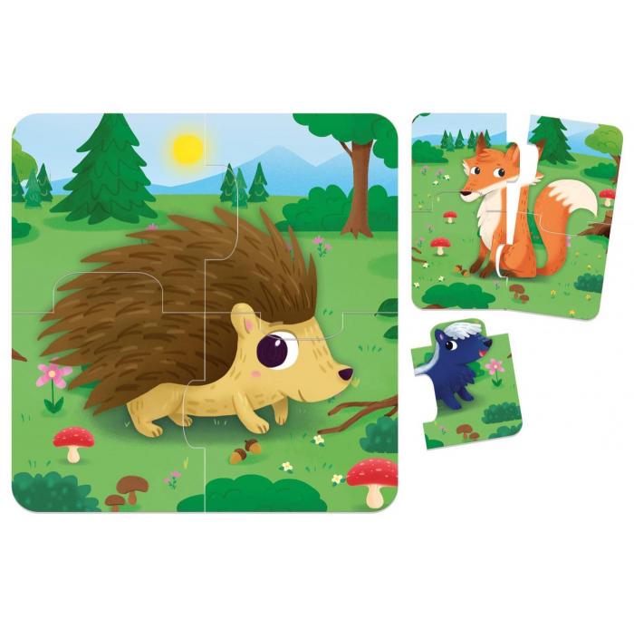 8 baby puzzle foret -  -Puzzles