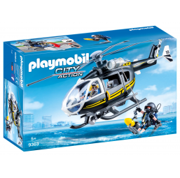 PLAYMOBIL A1901095 Helicoptere + policiers d elite