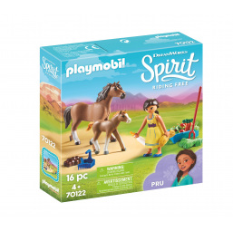 Figurines, environnements PLAYMOBIL Apo + cheval + poulain Spirit
