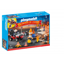 Calendrier avent pompiers - PLAYMOBIL -Figurines, environnements
