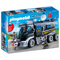 Camion policiers + gyrophare - PLAYMOBIL -Figurines, environnements