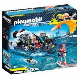 PLAYMOBIL A1901823 Bateau + harpon shark team