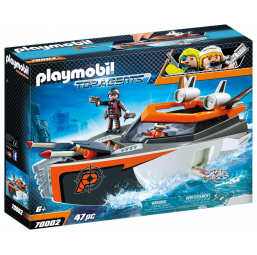 PLAYMOBIL A1901819 Bateau turbo spy team