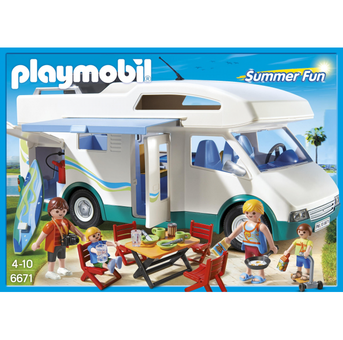PLAYMOBIL Famille avec camping-car A1601954 Univers filles