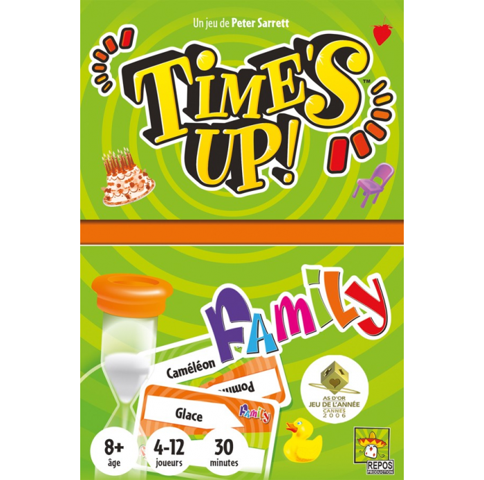 Asmodee A1605248 Time's up family nouvelle version