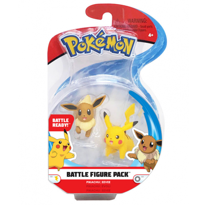Figurines, environnements  2 figurines Pikachu Evoli