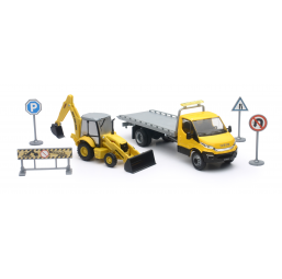 Circuits, véhicules  Coffret BTP Iveco new Holland 1/43
