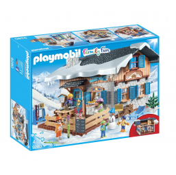 Chalet avec skieurs - Family fun - PLAYMOBIL -Figurines, environnements