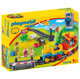 PLAYMOBIL A2002352 Train passagers avec circuit 1.2.3