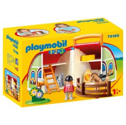 PLAYMOBIL A2002353 Centre équestre transportable 1.2.3