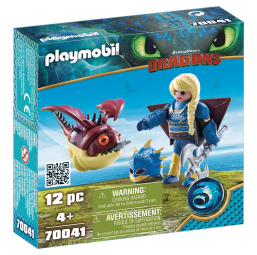 Figurines, environnements PLAYMOBIL Astrid + Globegobeur dragons