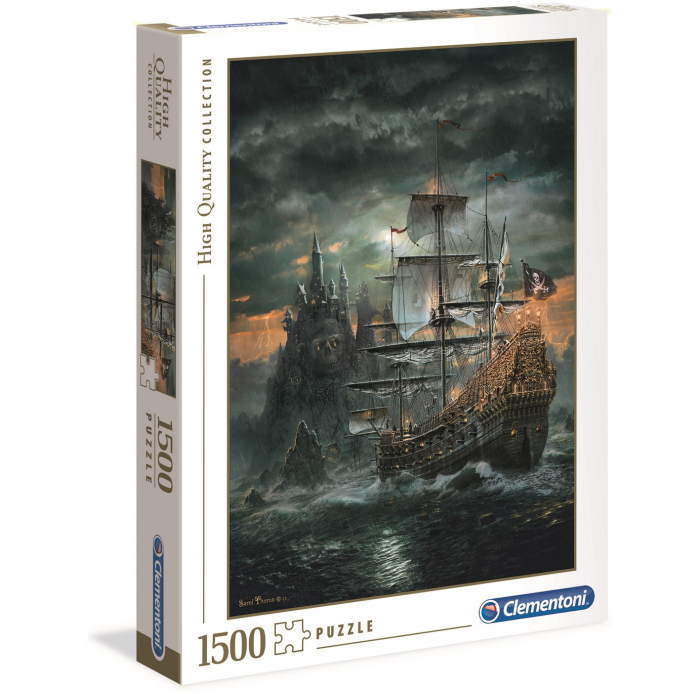 Puzzles  Puzzle High Quality 1500 pièces - The Pirate ship