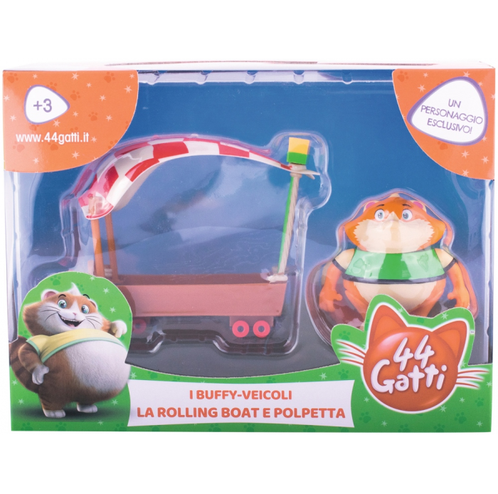 Figurines, environnements SMOBY 44 cats véhicule + figurine