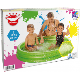 Piscines HAPPY PEOPLE Piscine 3 boudins diam 122 cm h 23 cm