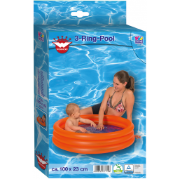 Piscines HAPPY PEOPLE Piscine 3 boudins diam 100 cm h 23 cm