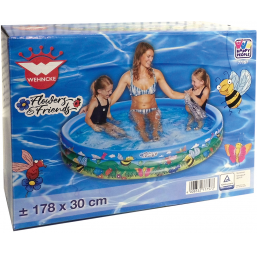 Piscines HAPPY PEOPLE Piscine 3 boudins déco diam 178cm h 30 cm