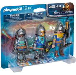 3 Chevaliers Novelmore - PLAYMOBIL -Figurines, environnements