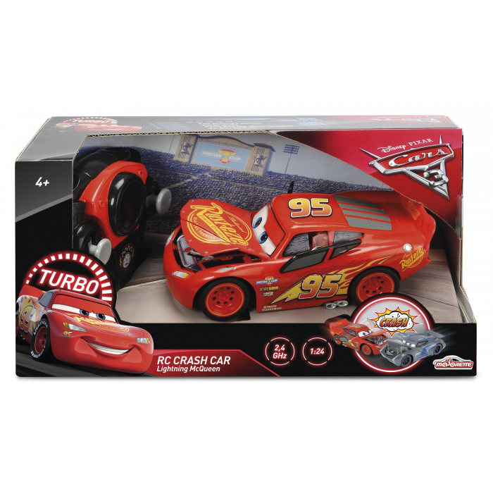SMOBY A1803449 Cars 3 crash Mc Queen 1/24
