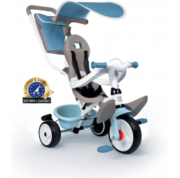 Tricycle Baby balade plus bleu - SMOBY -Tricycle, draisienne, trottinette