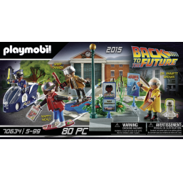 Back to the Future Course d'hoverboard - PLAYMOBIL -Figurines, environnements
